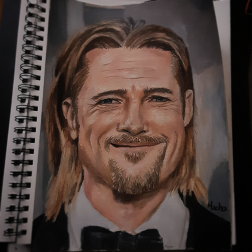 Brad Pitt by Macha